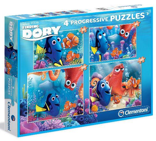 Puzzle Clementoni - 20, 60, 100 a 180 dílků - Hledá se Dory 07712