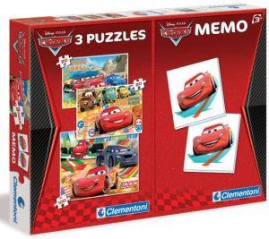 Puzzle Clementoni 2x20  + 100  dílků + Memos ( pexeso ) - CARS   07802