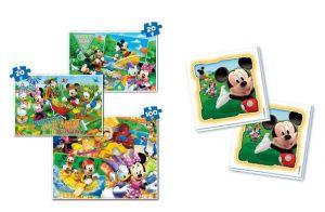 Puzzle Clementoni 2x20 + 100 dílků + Memos ( pexeso ) - Mickey Mouse 07808