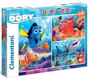 Puzzle Clementoni  - 3 x 48 dílků  - Hledá se Dory  25214