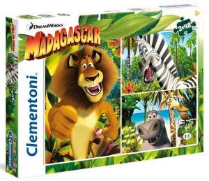 Puzzle Clementoni  - 3 x 48 dílků  - Madagaskar 25207