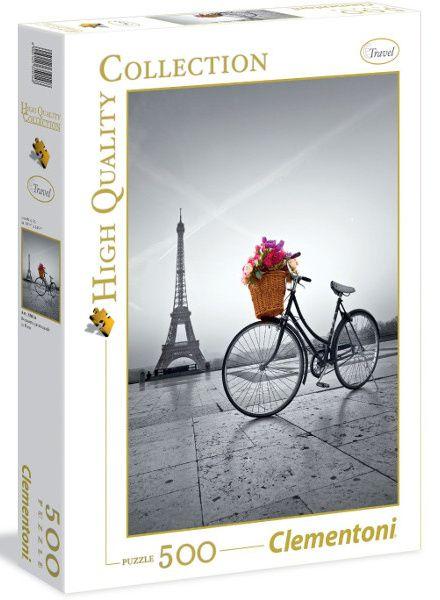 Puzzle Clementoni 500 dílků 35014 - Romantická promenáda v Paříži