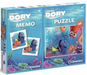 Puzzle Clementoni 60  dílků + Memos ( pexeso ) - Hledá se Dory  07913