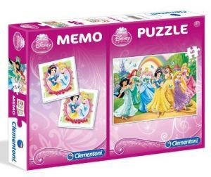 Puzzle Clementoni 60  dílků + Memos ( pexeso ) - Princezny   07906