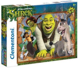 Puzzle Clementoni 60 dílků  -  Shrek   26945
