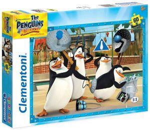 Puzzle Clementoni - 60 dílků  -  Tučňáci z Madagaskaru  26943