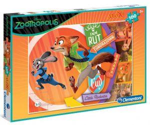 Puzzle Clementoni  MAXI  - 100 dílků  -  Zootropolis  07527