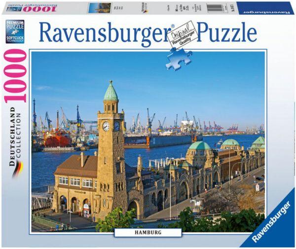 Puzzle Ravensburger 1000 dílků - Hamburk 194575