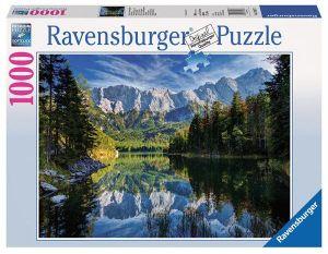 Puzzle Ravensburger 1000 dílků -  Jezero Eibsee Německo   193677