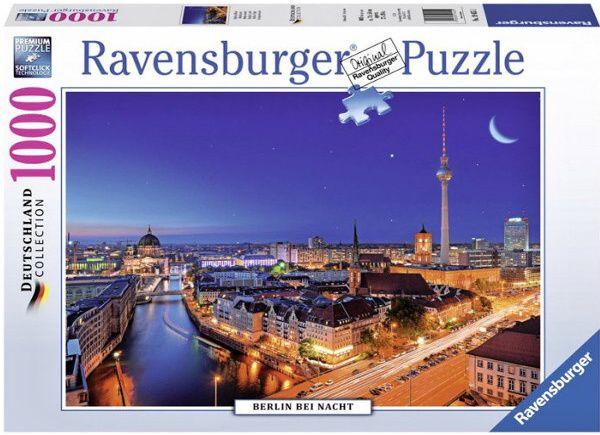 Puzzle Ravensburger 1000 dílků - Noční Berlín 194551