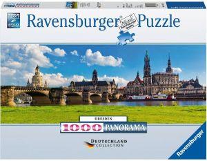 Puzzle Ravensburger 1000 dílků panorama - Drážďany 196197
