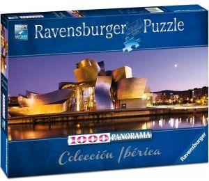 Puzzle Ravensburger 1000 dílků panorama - Gugenhaimovo muzeum Bilbao -  150724