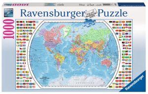 Puzzle Ravensburger 1000 dílků - Politická mapa světa  196333
