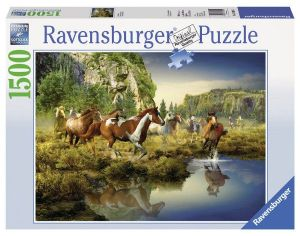 puzzle Ravensburger  1500 dílků - divocí koně 163045