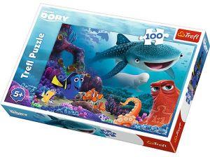 Puzzle Trefl 100 dílků - Hledá se Dory  16294