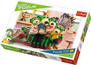 Puzzle Trefl 100 dílků - Rodinka Treflíků - Indiáni 16305
