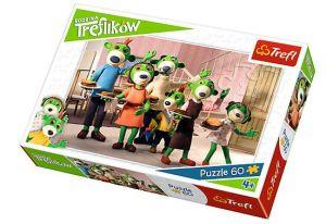 Puzzle  Trefl  - 60 dílků  - Rodina Treflíků - snídaně   - Trefl 17293