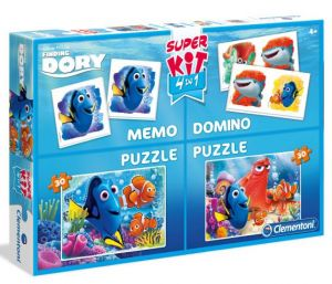 Super Kit  puzzle Clementoni 2x30 dílků + Domino + Memos ( pexeso ) - Hledá se Dory  08213