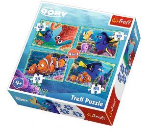Trefl Puzzle 34259  Hledá se Dory 4v1 35 48 54 70 dílků
