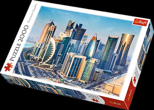 2000 dílků Dauhá Katar - puzzle Trefl 27084