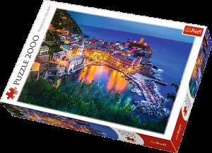 2000 dílků  Vernazza za soumraku Itálie   -  puzzle Trefl  27086