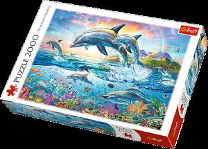 2000 dílků  Veselí delfíni  -  puzzle Trefl  27087