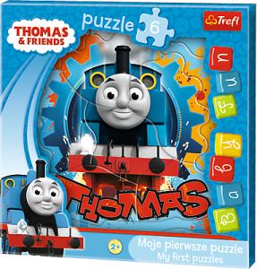 6 dílků Mašinka Tomáš - puzzle v rámečku ( rámkové ) puzzle Trefl 36123
