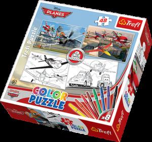 Color puzzle 2 x 48 dílků - Letadla - Planes    36510