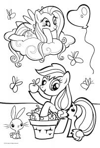 Color puzzle 20 dílků - Koníčci My Little Pony 36516 Trefl