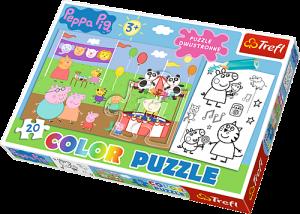 Color puzzle 20 dílků - Prasátko Peppa  36511