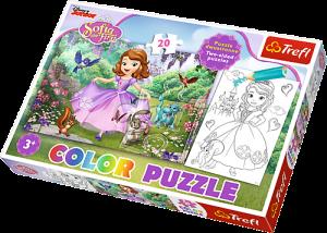 Color puzzle 20 dílků - Sofie První  36515