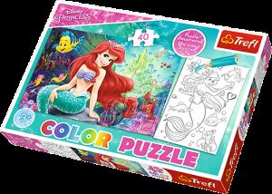 Color puzzle 40 dílků - Ariel   36513
