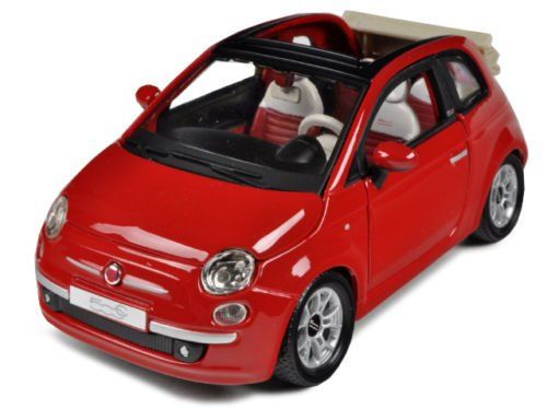 Fiat 500C cabriolet- auto 1:24 Bburago