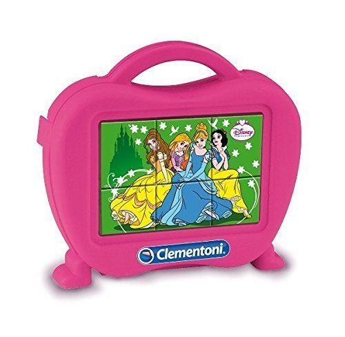 Kubus Clementoni - Princezny - 6 obrázkových kostek v kufříku 40650