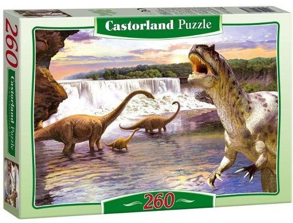 Puzzle Castorland 260 dílků - Dinosaurus - Diplodocus 26999