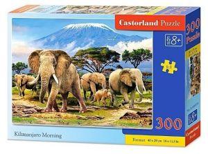 Puzzle Castorland 300 dílků - 030019 - Sloni pod Kilimandžárem