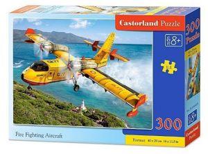 Puzzle Castorland 300 dílků - 030026 - Letadlo k hašení požárů