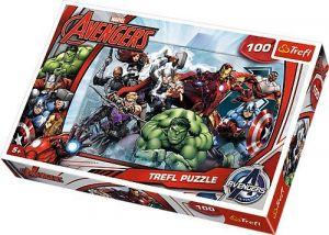 Puzzle Trefl 100 dílků - Avengers - Do akce  16272