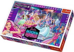 Puzzle Trefl 100 dílků - Barbie - Královny rocku   16279