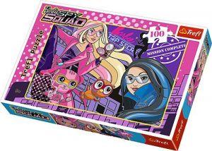 Puzzle Trefl 100 dílků - Barbie - Špionážní tým  16292