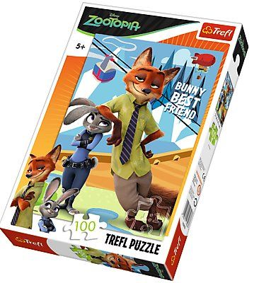 Puzzle Trefl 100 dílků - Zootropolis 16293