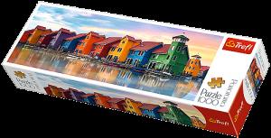 Puzzle TREFL  1000 dílků - panorama - Groningen - Holandsko  29034