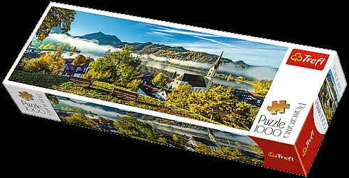 Puzzle TREFL 1000 dílků - panorama - Nad jezerem Schliersee 29035