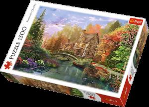 Puzzle Trefl 1500 dílků - Chata u jezera  -  Trefl 26136