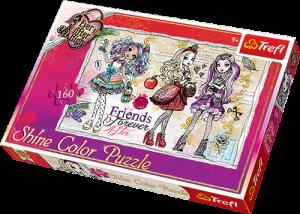 Puzzle Trefl 160 dílků -  SHINE COLOR -  Studentky z Ever After High  30006