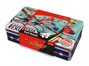 Puzzle Trefl 160 dílků v plechové krabičce - Letadla - Planes    53002
