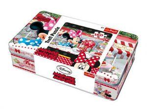 Puzzle Trefl 160 dílků v plechové krabičce - Mlsná Minnie  53004