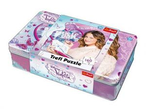 Puzzle Trefl 160 dílků v plechové krabičce - Violetta  53001