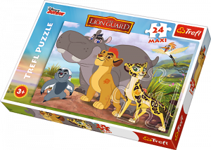 Puzzle Trefl 24 MAXI dílků  -  Lví hlídka   14240