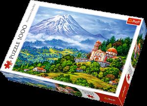 TREFL Puzzle 1000 dílků - Krajina se sopkou 10431